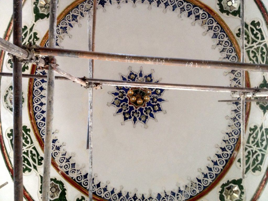 Dokorowana kopuła pałacyku Baghe Bala