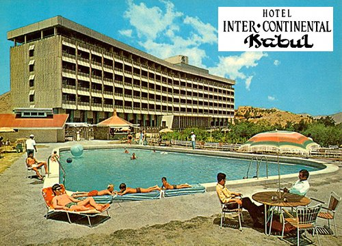 Hotel InterContinental w Kabulu widok z lat 70