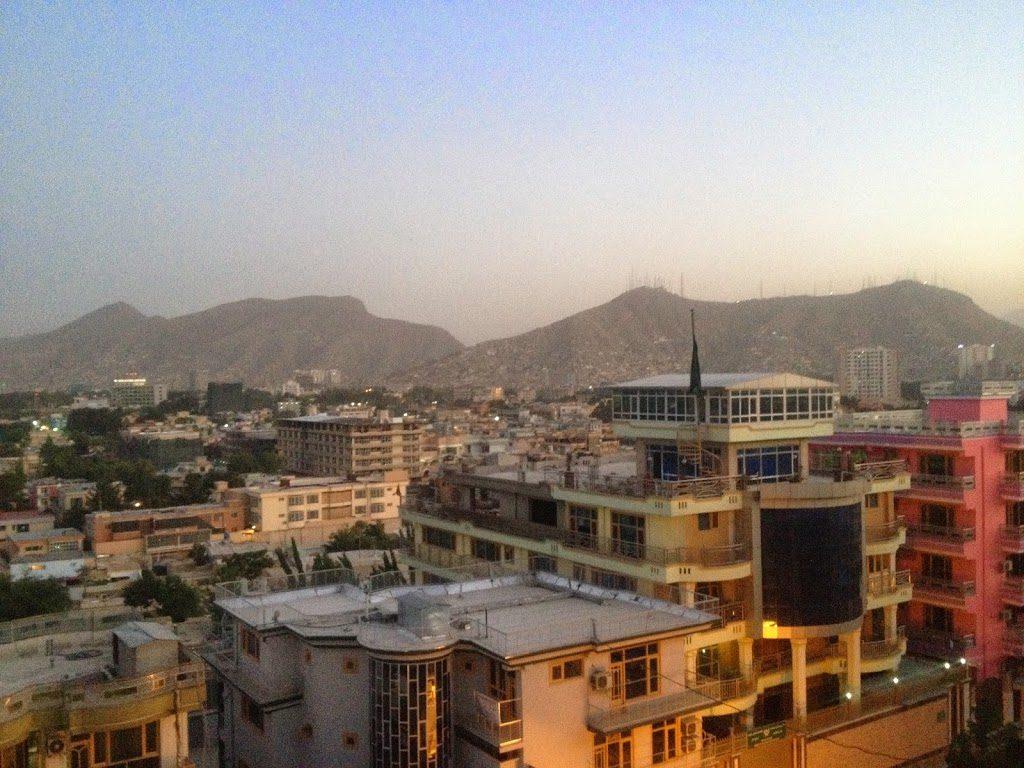 Przepiękny widok z dachu w Kabulu