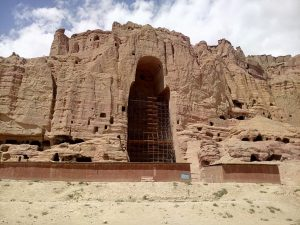 Nisza pozostała po posągu Buddy w Bamyan, Afganistan