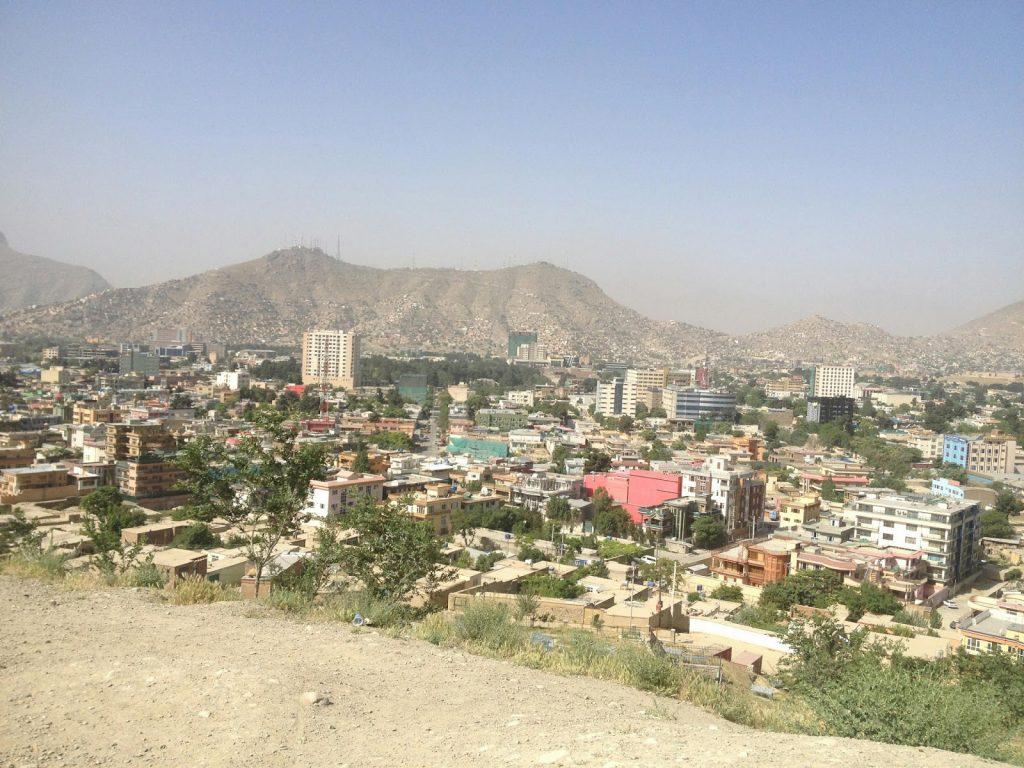 Widok w kierunku wschodnim ze wzgórza Wazir Akbar Khan