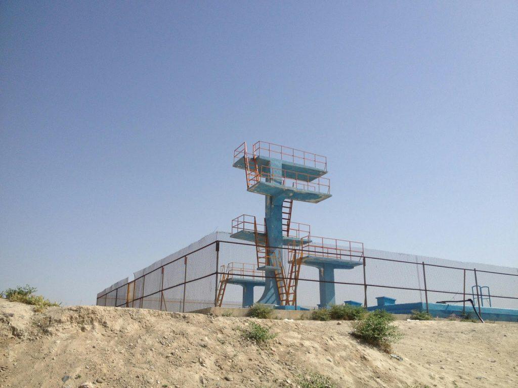 Basen na szczycie wzgórza Wazir Akbar Khan