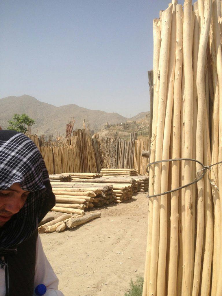 Tartak gdzieś na obrzeżach Kabulu