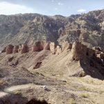 Forteca Czerwone Miasto w Bamyan, Afganistan widziana z góry
