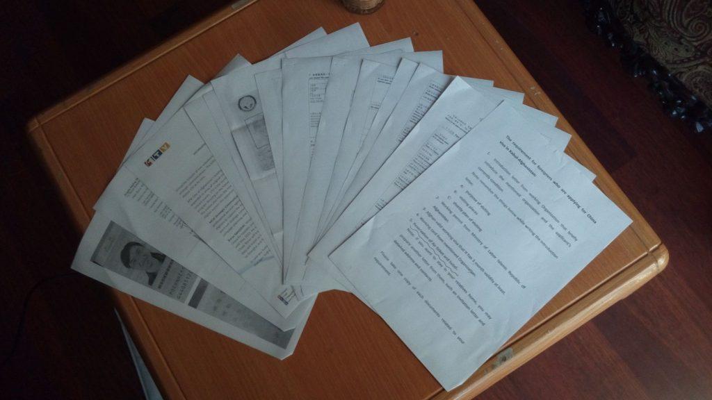 Jeszcze raz zestaw dokumentów potrzebnych do wizy