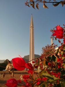 Minaret meczetu Faisala w Islamabadzie