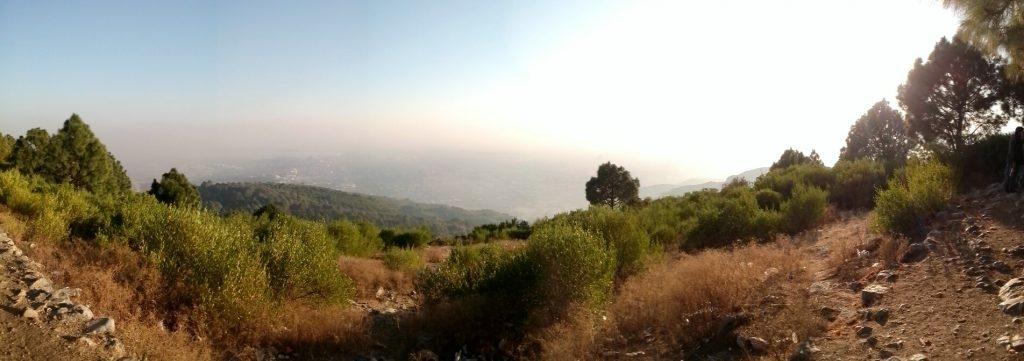Panorama z widokiem z gór Margalla