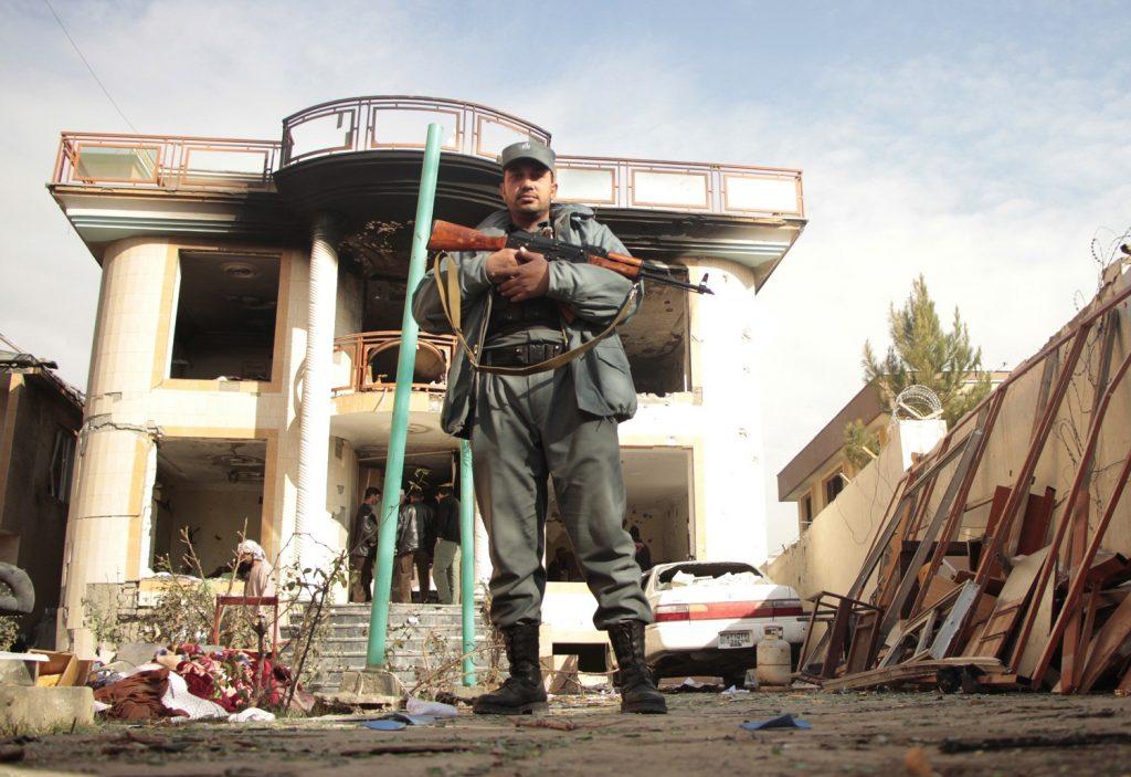 Budynek w Kabulu po ataku