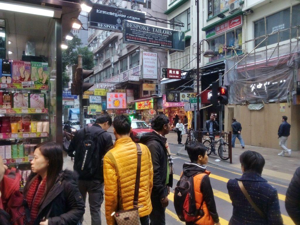 Ulica w dzielnicy Kowloon w Hong Kongu