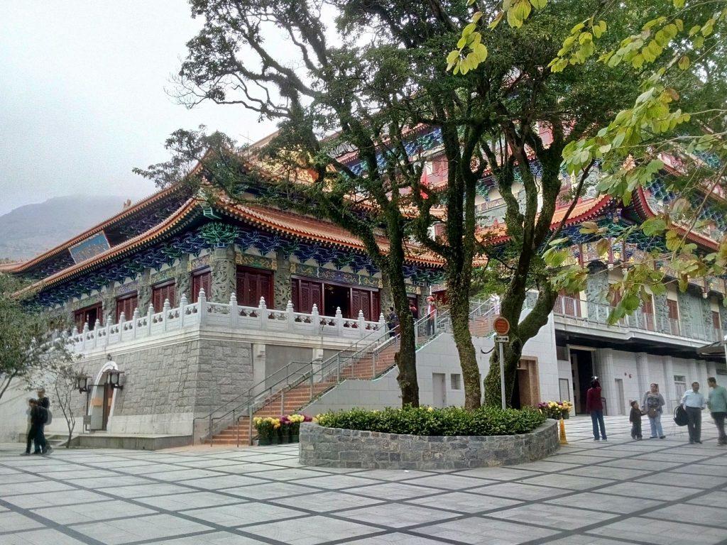 Buddyjskiej świątynia na wyspie Lantau w Hong Kongu