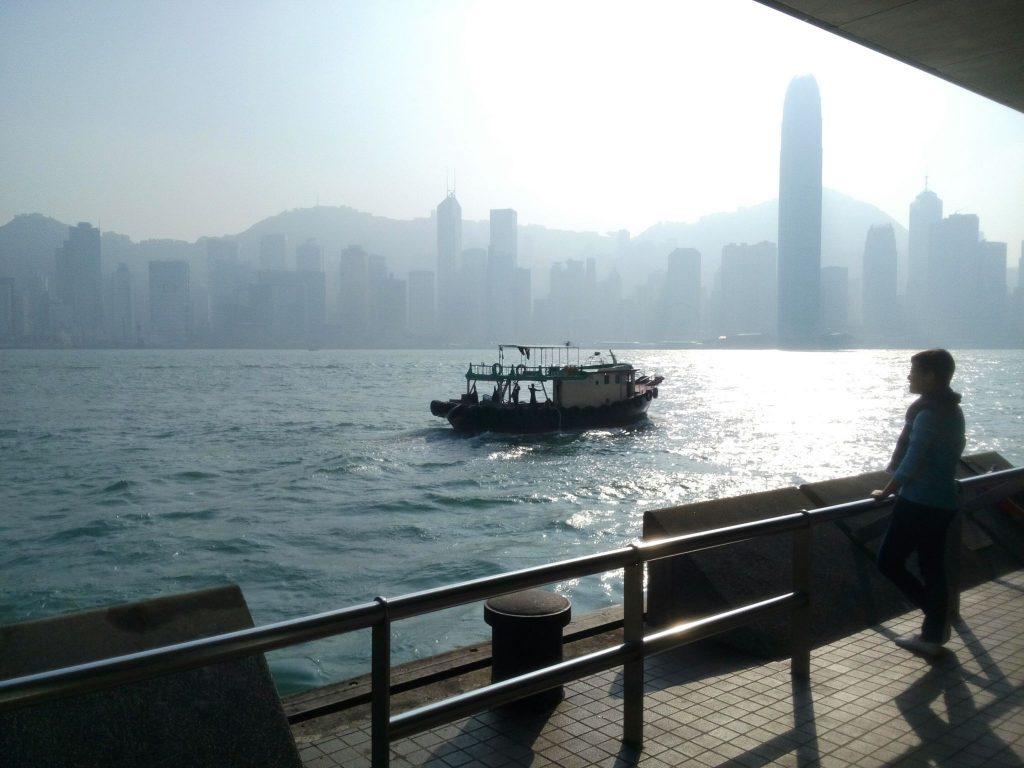 Wyspa Hong Kong widziana z jego lądowej części