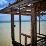 Fragment pomostu w General Luna na wyspie Siargao
