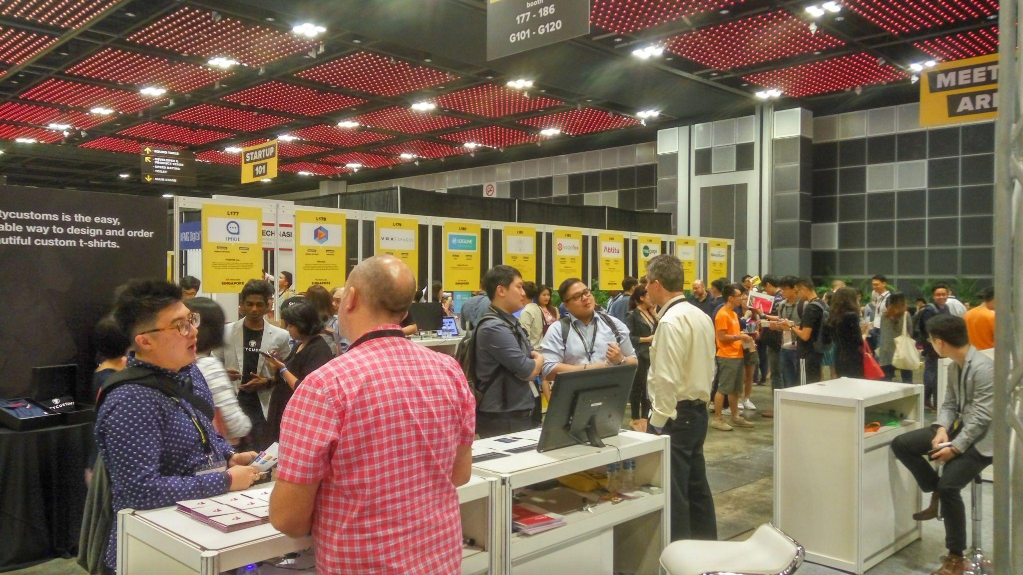 Stoisko Logline na Tech in Asia 2017 w Singapurze
