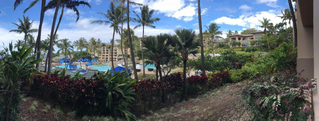 Widok na hotel Ritz Carlton na Maui