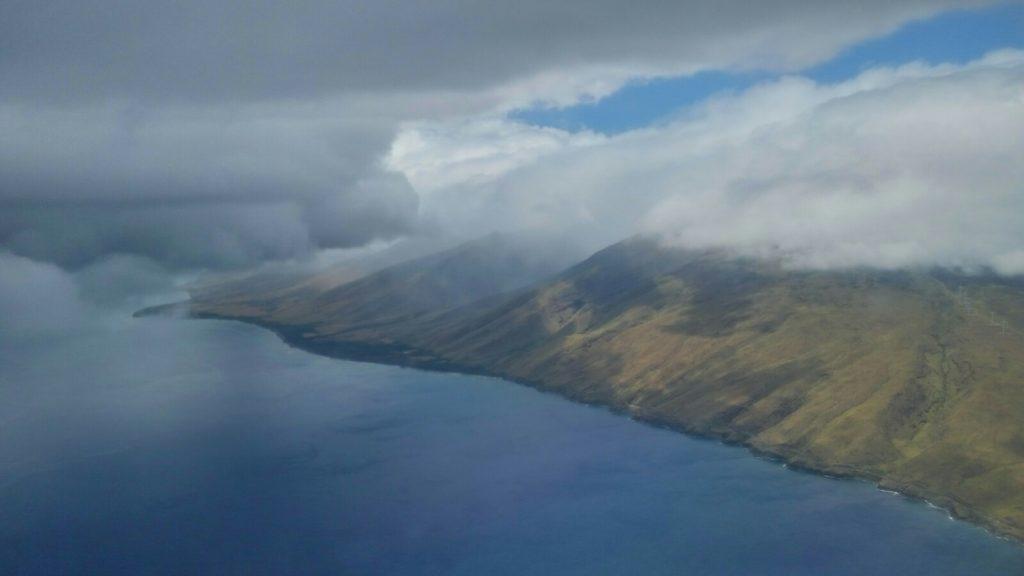 Widok z lotu ptaka na wyspę Hawaii