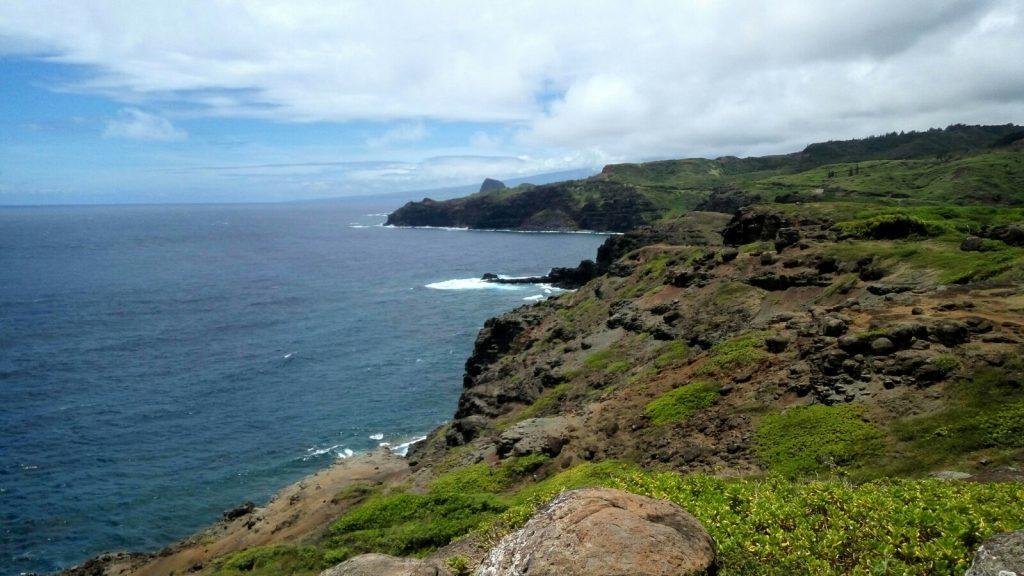 Wybrzeże Maui jest usiane urwiskami