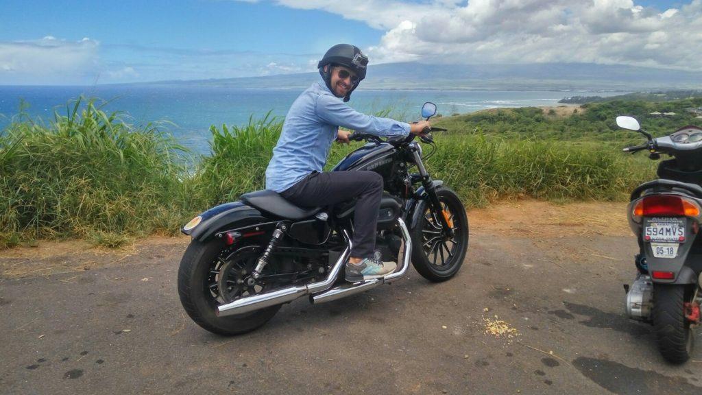 Lans na motorze, niestety tak naprawdę jeździłem skuterem