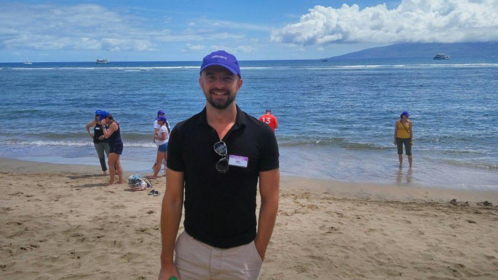 Ja na plaży w Lahaina