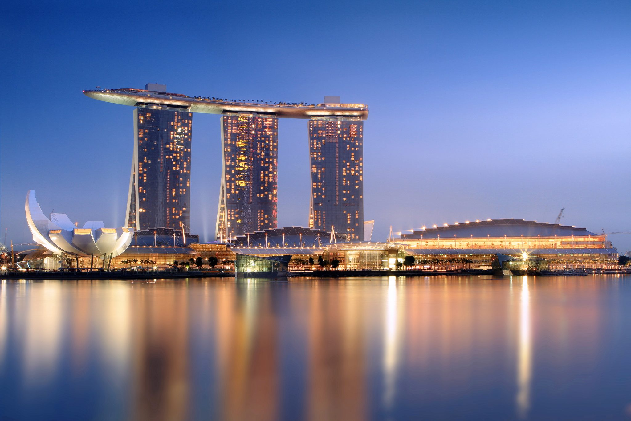 Marina Bay Sands Nocą