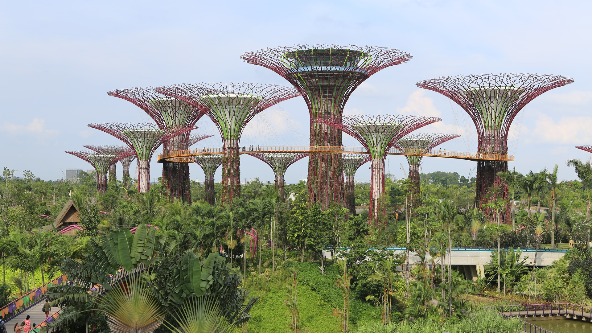 Super Drzewa (Supertrees) w Gardens By The Bay w SIngapurze. Numer 2 na liście 5 największych atrakcji turystycznych Singapuru.