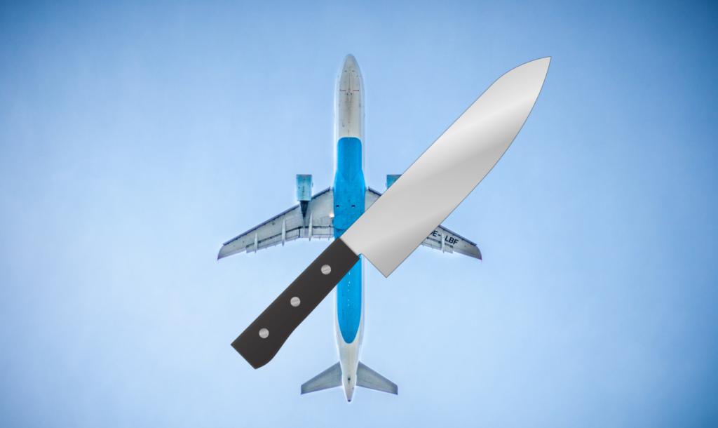 Nóż na pokładzie samolotu?