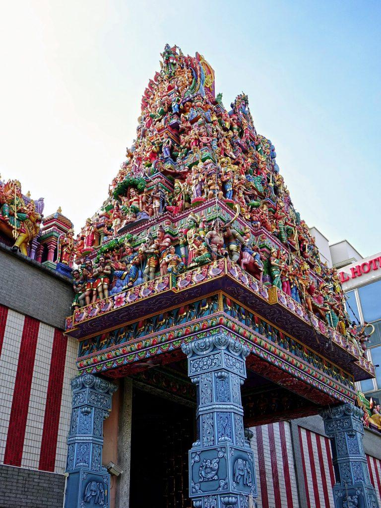 Hinduska Świątynia w dzielnicy Little India w Singapurze