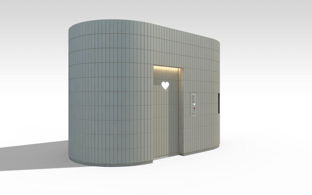 Projekt toalety publicznej w Warszawie