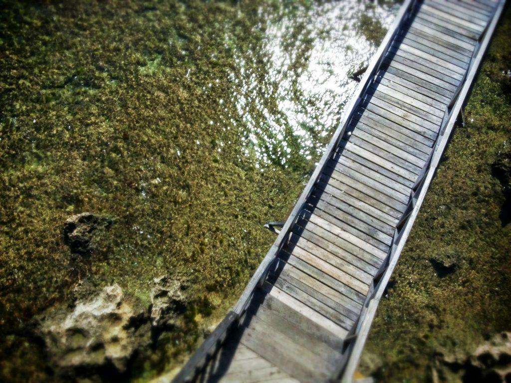 Molo widziane z góry, swoją drogą woda nie wygląda już tak pięknie