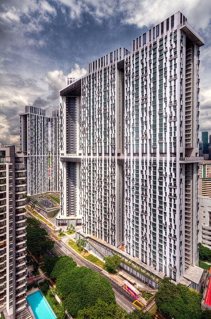 Pinnacle at Duxton - jeden z najciekawszych bloków komunalnych w Singapurze