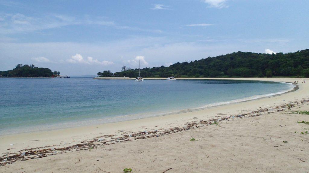 Plaża na wyspie Lazarus w pobliżu Singapuru