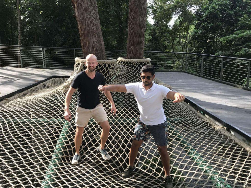 Siatko trampolina - naprawdę fajna sprawa - i trochę straszna