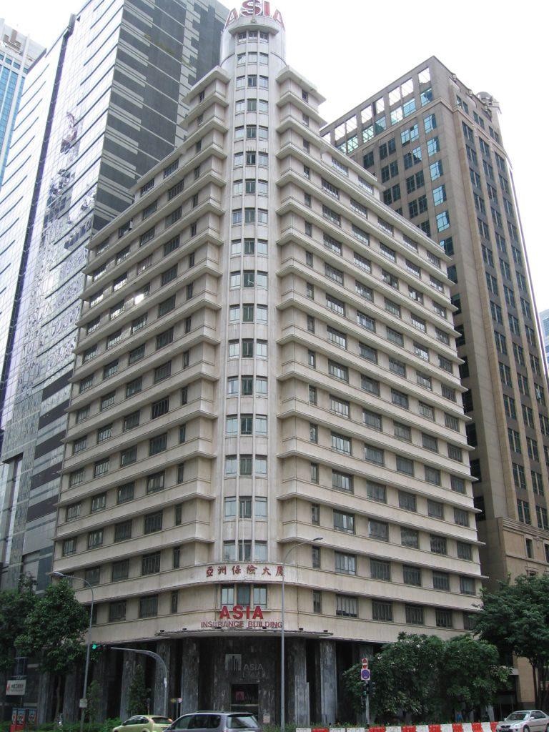 Budynek Hotelu Ascott Raffles Place w Singapurze