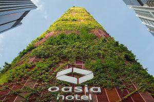 Budynek Hotelu Asia Downtown w Singapurze