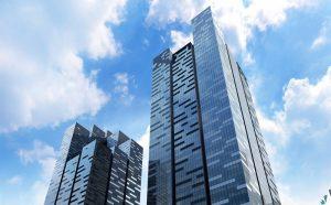 Budynek hotelu Westin tuż obok Marina Bay w Singapurze