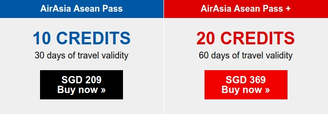 Oferta AirAsia Asean Pass w dwóch wariantach