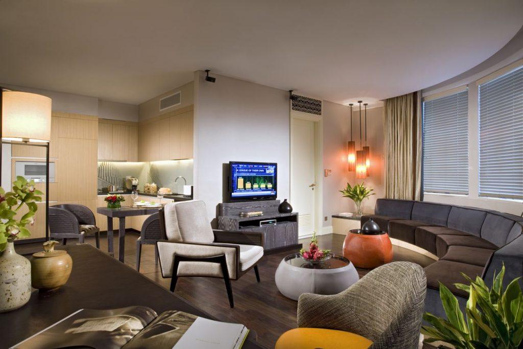 Pokój w Ascott Raffles Place Hotel w Singapurze