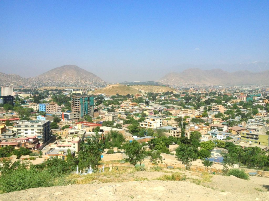 Widok na Kabul ze wzgórza Wazir Akbar Khan