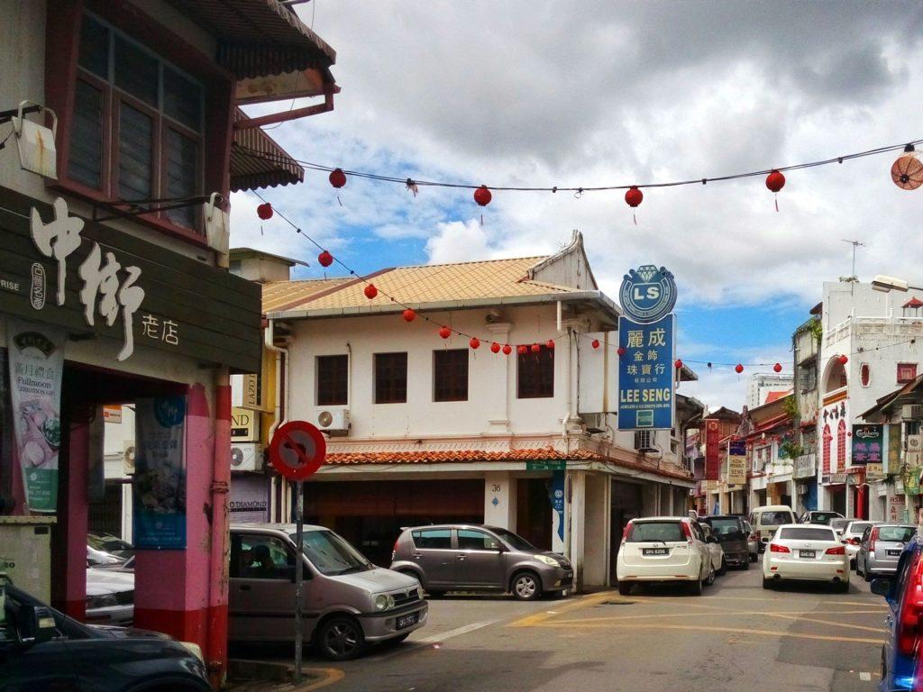Zabudowa w Chinatown w Kuching