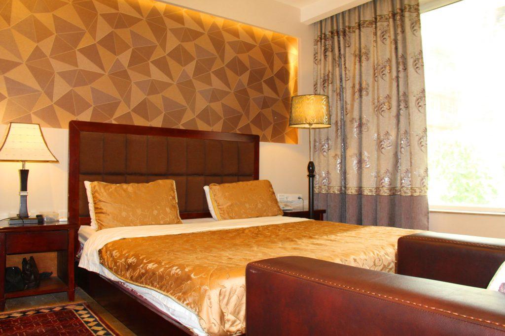 Pokój w hotelu Park Star w Kabulu. Hotel Afganistan