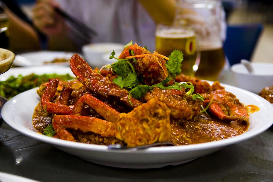 Chili Crab jedno z bardziej znanych dań kuchni singapurskiej