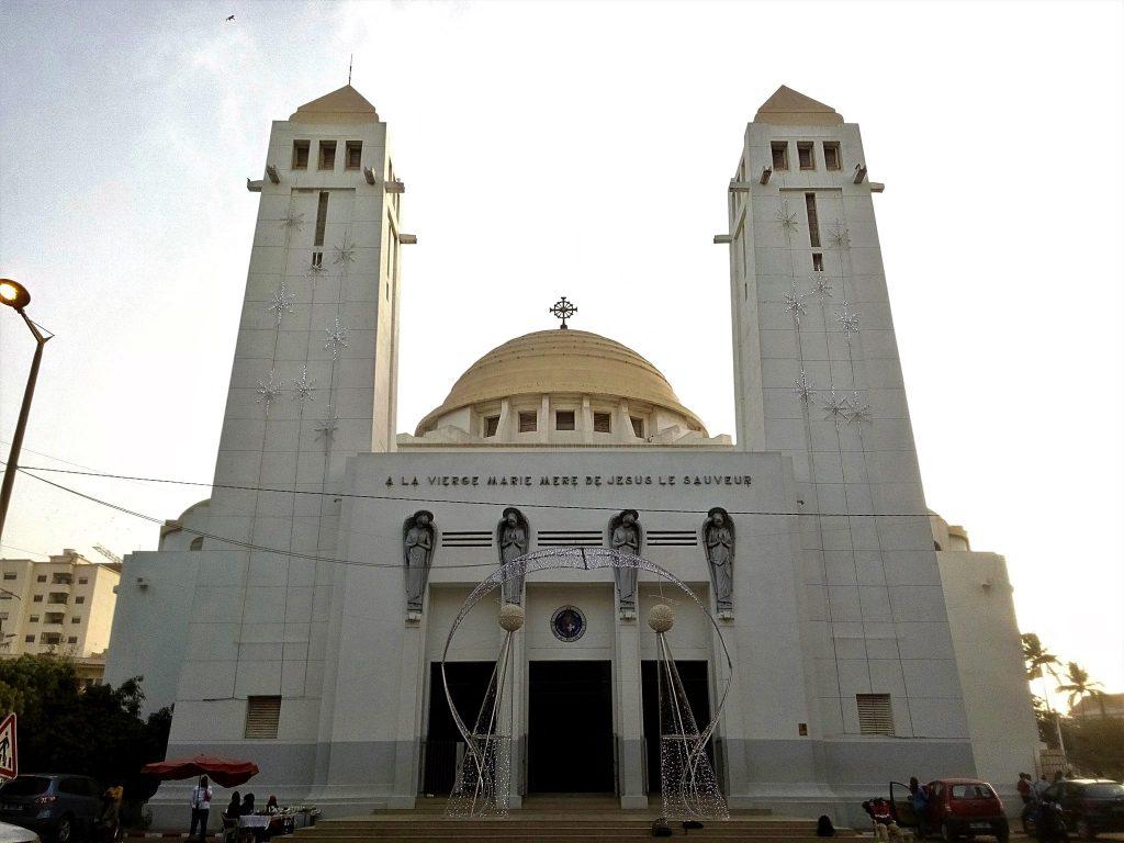 Katedra w Dakarze z wyraźnymi wpływami kościoła koptyjskiego