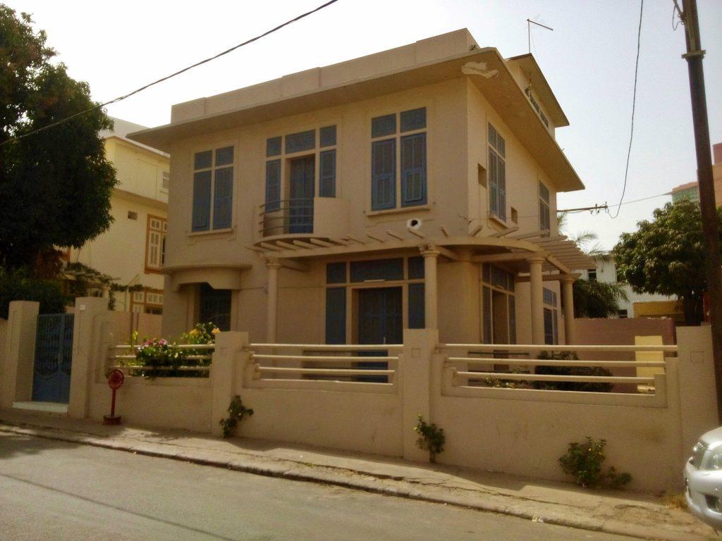 Modernistyczna willa w Dakarze - stolicy Senegalu