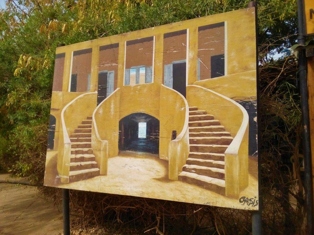 Obraz przedstawiający dom handlarza niewolników na wyspie Goree - Senegal