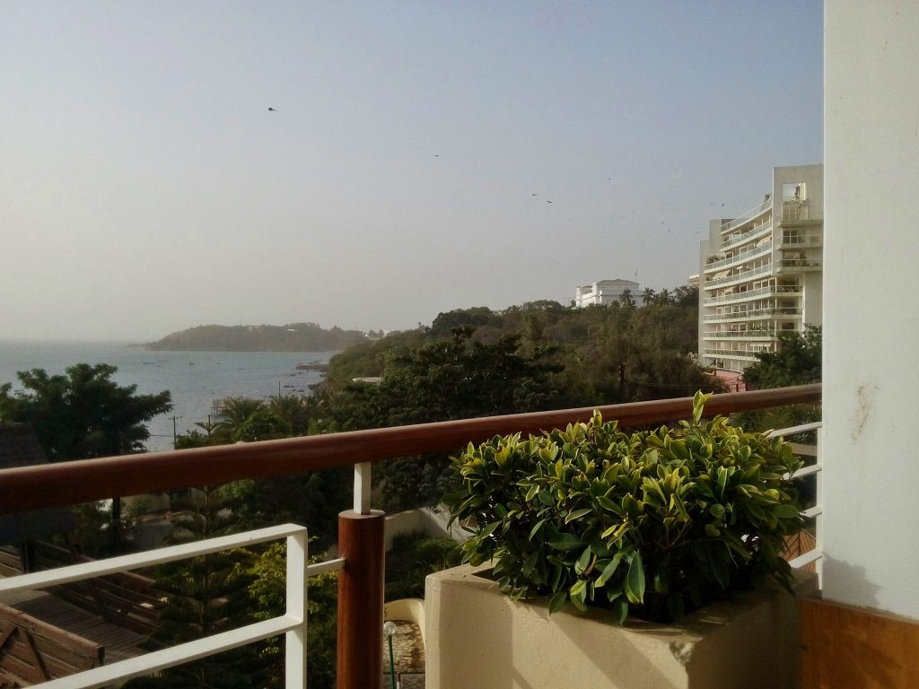 Widok z tarasu hotelu Pullmann w Dakarze