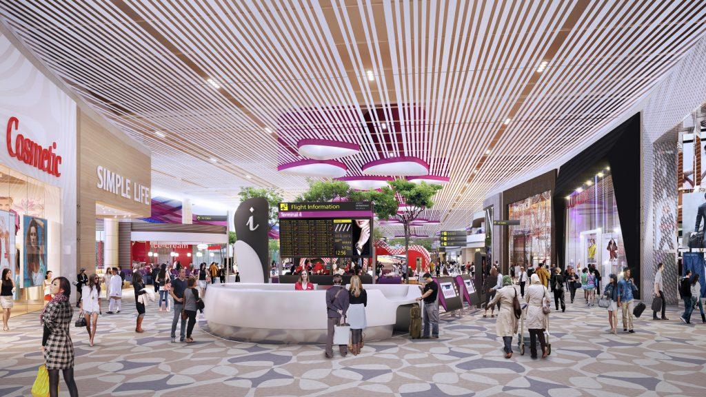 Wizualizacja 4 terminalu lotniska Changi w Singapurze