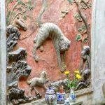 Płaskorzeźba przedstawiająca tygrysa w Hanoi - stolicy Wietnamu