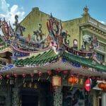 Piękny detal na świątyni taoistycznej w George Town w Malezji