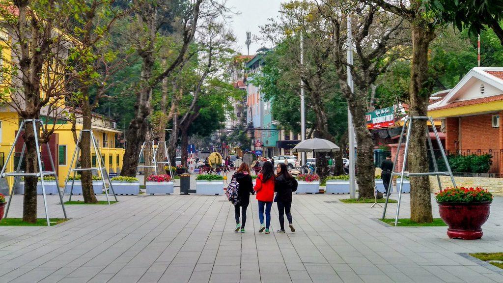 Ulica w Hanoi w pobliżu mauzoleum Ho Chi Minh