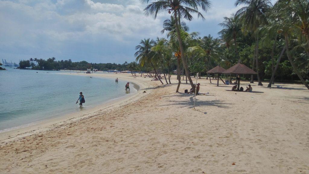 Tanjong beach czyli plaża na wyspie Sentosa w Singapurze