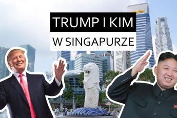 Donald Trump i Kim Dzong Un w Singapurze